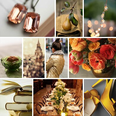 Coral, Olive, and Pear Wedding Inspiration Board